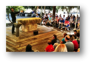 Hans Teaching in Capernaum at Break Forth Israel