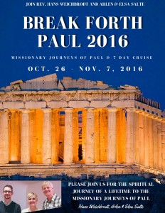 Download Your Break Forth Paul 2016 Brochure Now
