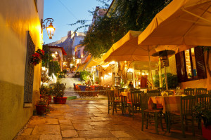 Stunning Plaka at night.